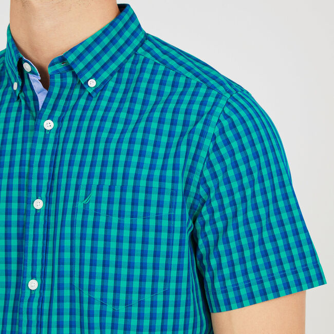 Gingham Classic Fit Button Down,Green Coast,large