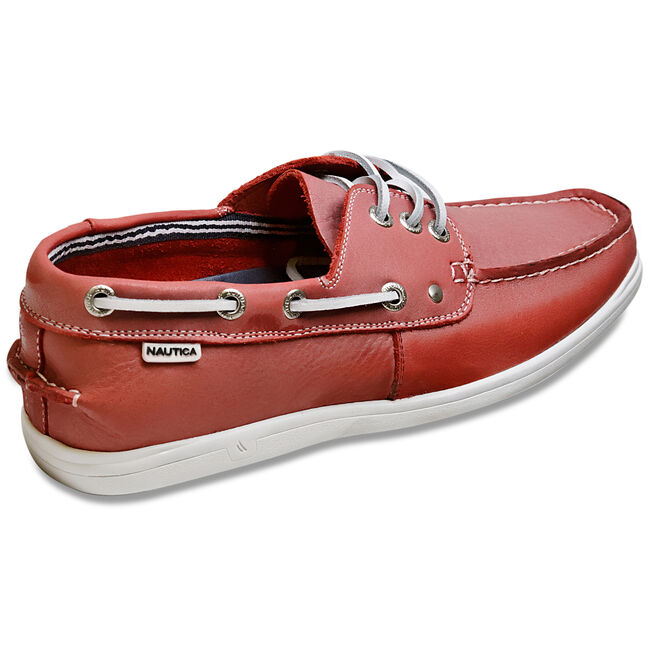 Hyannis Boat Shoes,Nautica Red/Orange,large