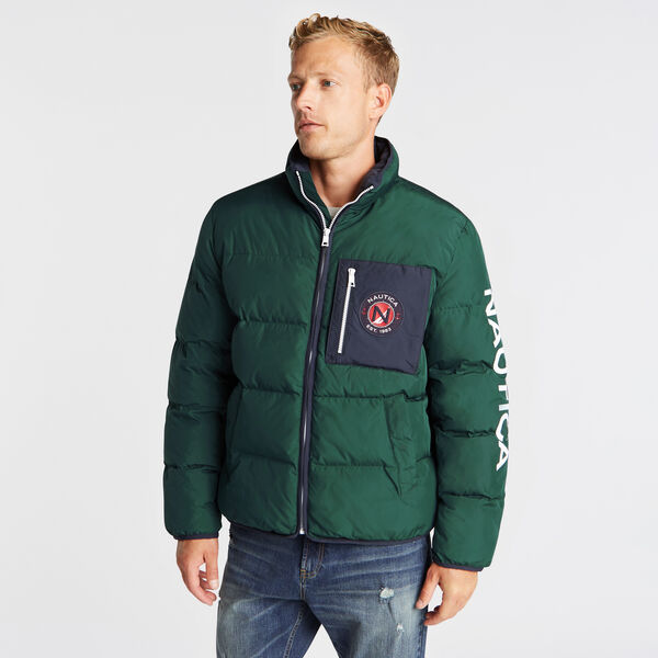 PUFFER JACKET WITH TEMPASPHERE - Olive