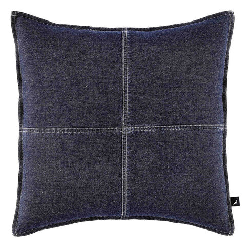 Seaward Denim Square Throw Pillow