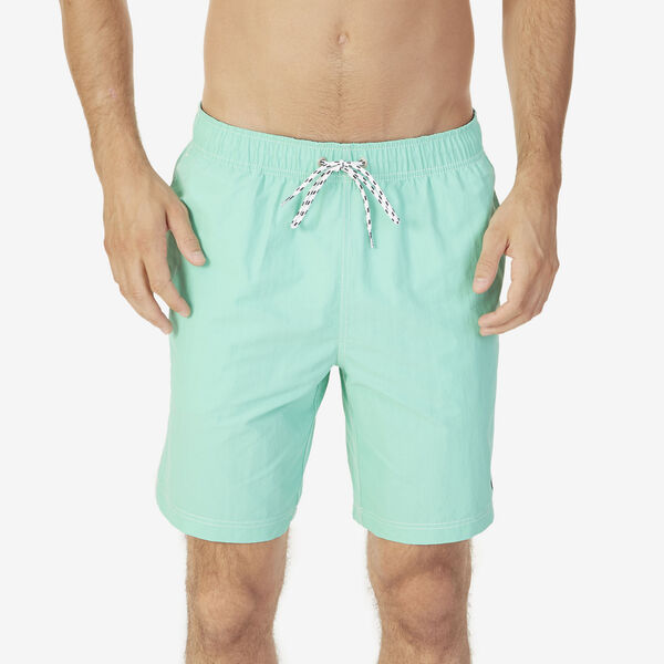 Big & Tall Full-Elastic Solid Swim Trunks - Mist Green