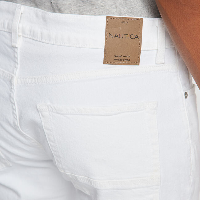 White Straight Fit Jeans,Antique White Wash,large