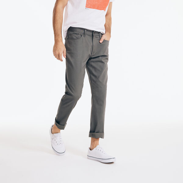 SLIM FIT STRETCH 5-POCKET PANTS - Gunmetal Grey