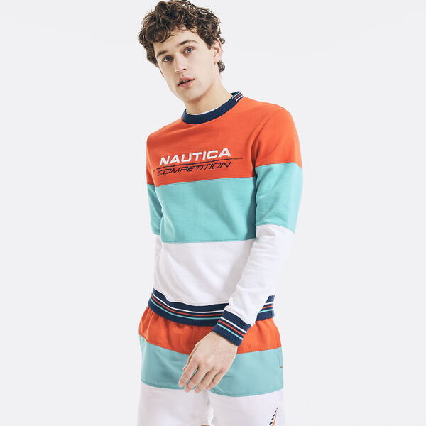 COMPETITION STRIPED SWEATSHIRT - Nautica Red