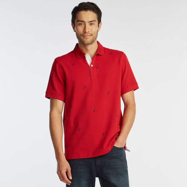 CLASSIC FIT J-CLASS PRINT MESH POLO - Nautica Red
