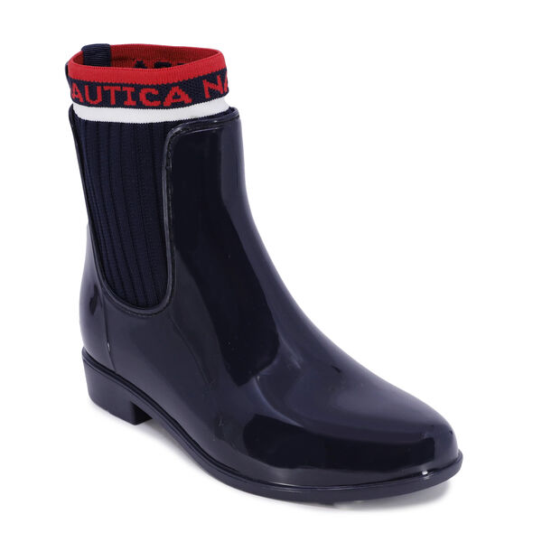 LOGO SOCK CHELSEA RAIN BOOT - Navy