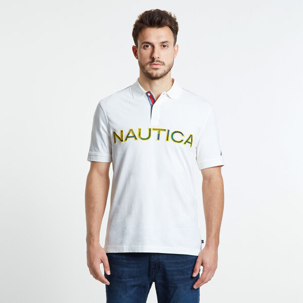 Kauai Short Sleeve Logo Classic Fit Polo - Sail White