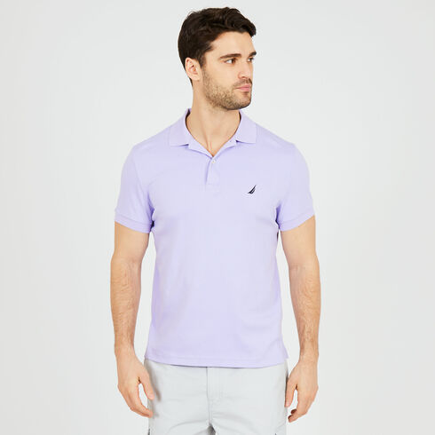 Short Sleeve Slim Fit Solid Interlock Polo - Camilla Rose