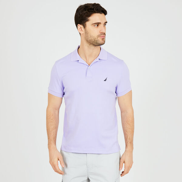Slim Fit Solid Interlock Cotton Polo - Camilla Rose
