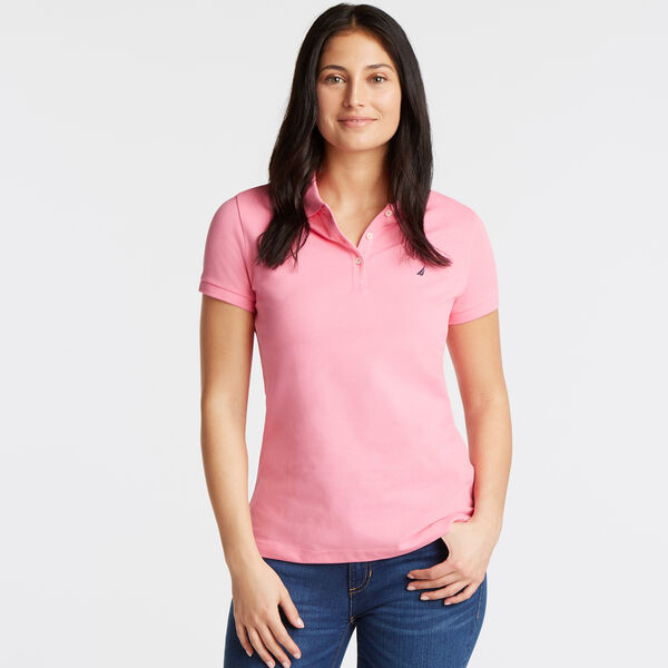 Short Sleeve Classic Fit Anchor Polo - Rio Red