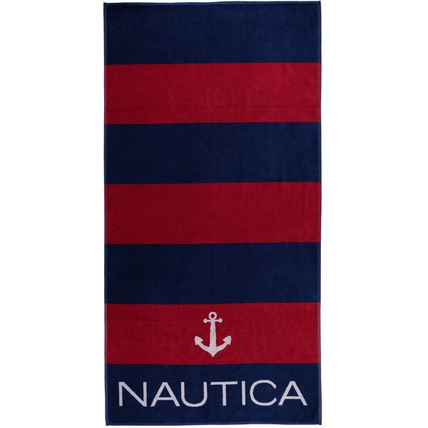 ANCHOR PRINT BEACH TOWEL - Nautica Red