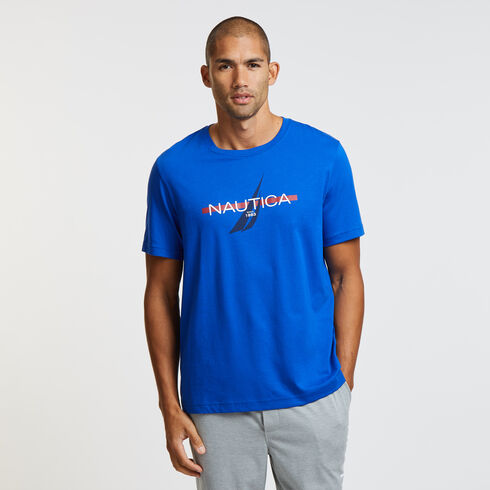 Short Sleeve Logo Sleep T-Shirt - Bright Cobalt