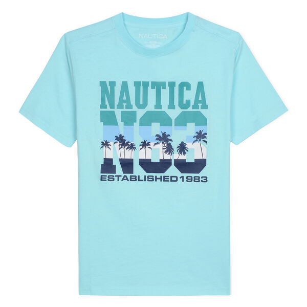 BOYS' JAXSON T-SHIRT IN NAUTICA N83 GRAPHIC (8-20) - Cargo Green