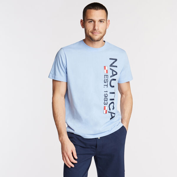 Logo Sleep T-Shirt - Light Tide Water Wash