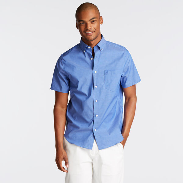 WRINKLE-RESISTANT SHORT SLEEVE CLASSIC FIT SHIRT - Rolling River Wash