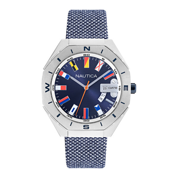 NAUTICA LOVES THE OCEAN SUSTAINABLE FLAG-EMBELLISHED WATCH - Multi