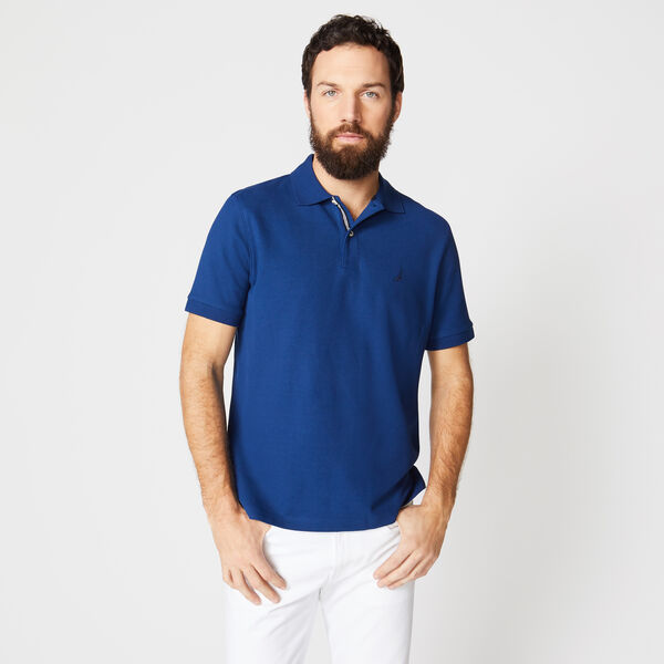 CLASSIC FIT PERFORMANCE MESH POLO - Estate Blue