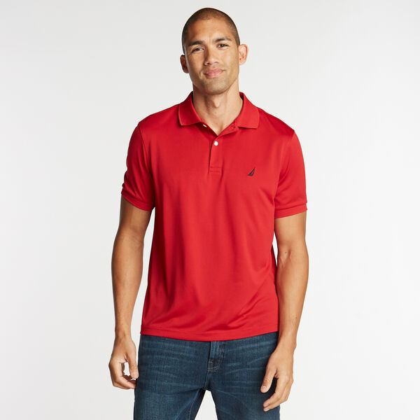 Short Sleeve Classic Fit Performance Polo - Nautica Red