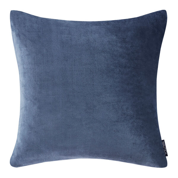 CAPTAINS ULTRA SOFT PLUSH EUROPEAN SHAM IN BLUE - Navy