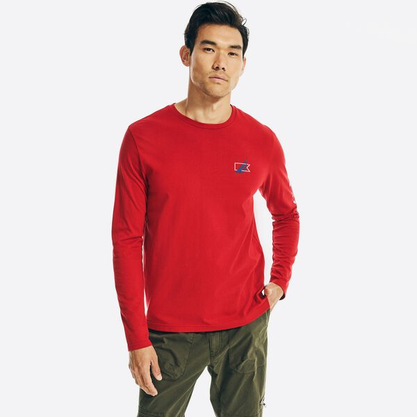 SUSTAINABLY CRAFTED GRAPHIC LONG SLEEVE T-SHIRT - Nautica Red