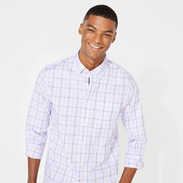 SLIM FIT WRINKLE RESISTANT PLAID SHIRT - Lavendula