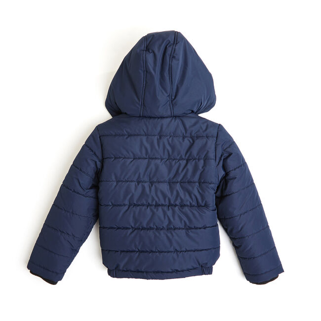 Boys' Arthur Logo Chest Bubble Jacket (8-20),Sport Navy,large