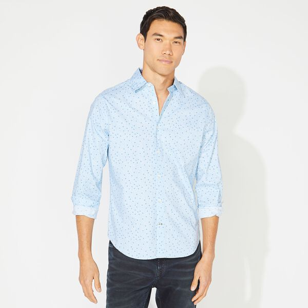 CLASSIC FIT PRINTED OXFORD SHIRT - Varsity Blue Wash
