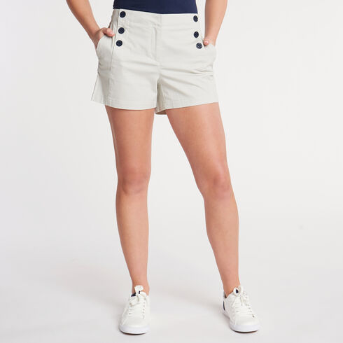 "Stretch Twill Sailor Shorts - 4"" Inseam - Moon Rock"