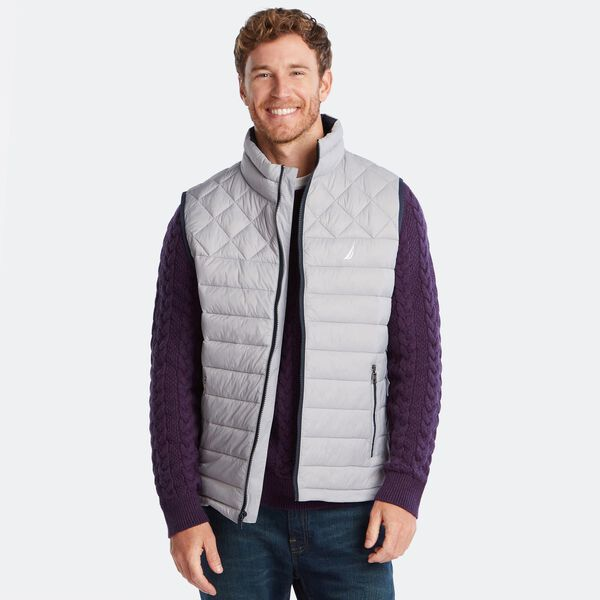 LIGHTWEIGHT QUILTED VEST WITH TEMPASPHERE - Grey Alloy
