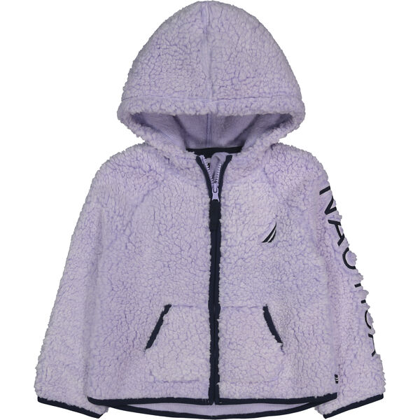 TODDLER GIRLS' FROSTED SHERPA FLEECE (2T-4T) - Thistle