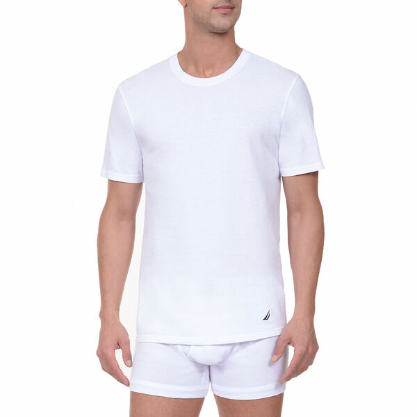 Crew T-Shirts, 3-Pack - Bright White