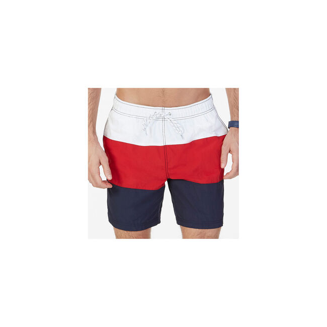 cc97df53e09f9 Quick Dry Color Block Swim Trunk,Seaside Red,large ...