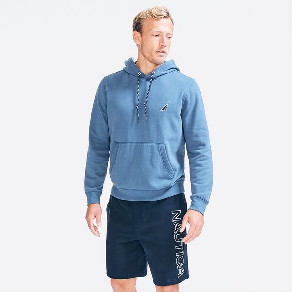 SUSTAINABLY CRAFTED J-CLASS PULLOVER HOODIE - Pure Adriatic Sea Wash