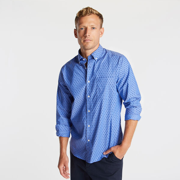 CLASSIC FIT WRINKLE RESISTANT SHIRT IN MINI PRINT - Rolling River Wash