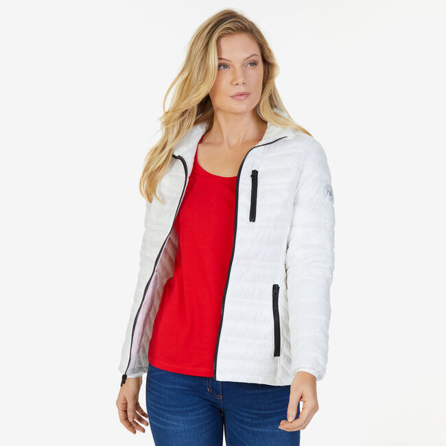 Down Puffer Jacket,Bright White,large