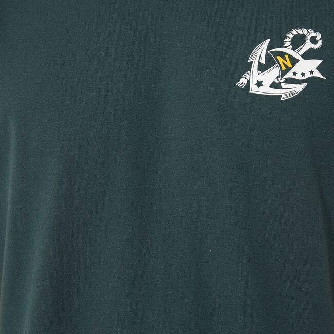 SUSTAINABLY CRAFTED SAILING CLUB GRAPHIC T-SHIRT,Green,large