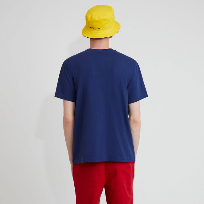 The Lil Yachty Collection by Nautica Big & Tall Oars Graphic T-Shirt,Monaco Blue,large