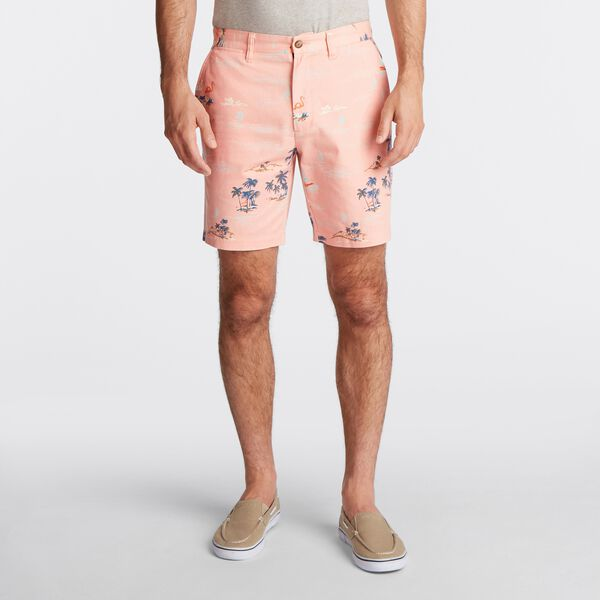 BIG & TALL PRINTED DECK SHORT - Peach Glow