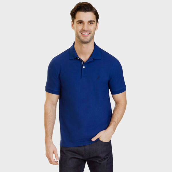 Big & Tall Performance Classic Fit Deck Polo - Estate Blue