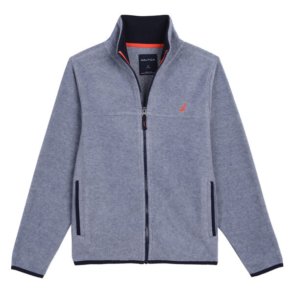 BOYS' CHRIS NAUTEX FLEECE (8 -20) - Gunmetal Grey