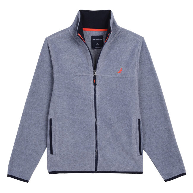 BOYS' CHRIS NAUTEX FLEECE (8 -20),Gunmetal Grey,large