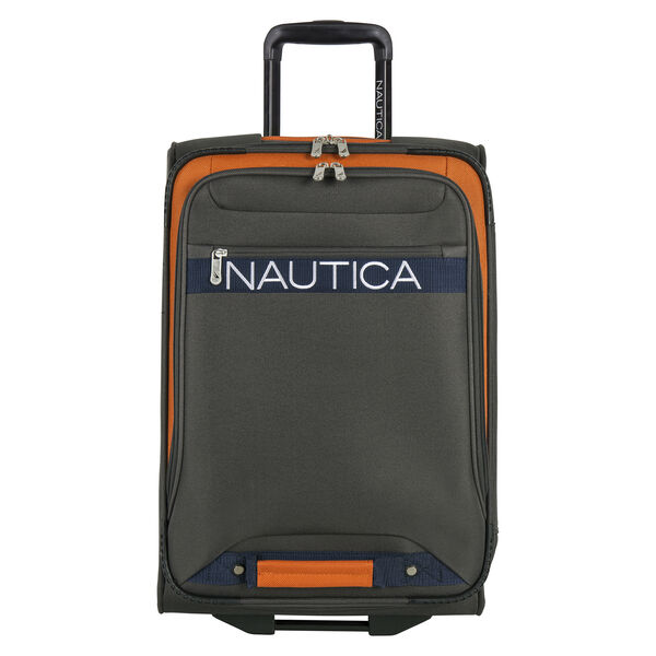 "Hayes Point 21"" Expandable Luggage in Grey/Orange - Grey Heather"