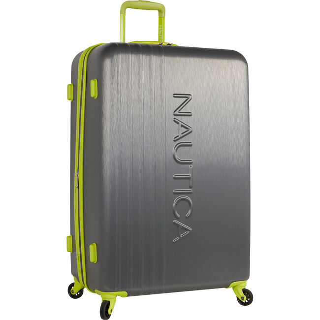"""Lifeboat 28"""" Expandable Spinner Luggage,Charcoal,large"""