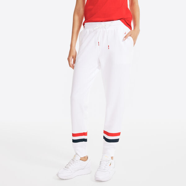 SUSTAINABLY CRAFTED STRIPED SWEATPANT - Bright White