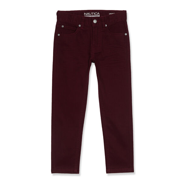 Little Boys' Stretch 5-Pocket Pants (4-7) - Bow Burgundy