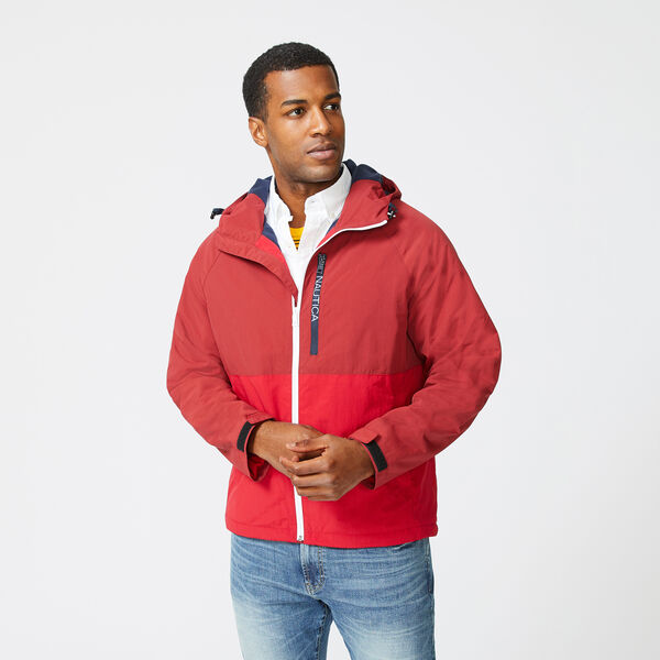 COLORBLOCK HOODED JACKET - Nautica Red