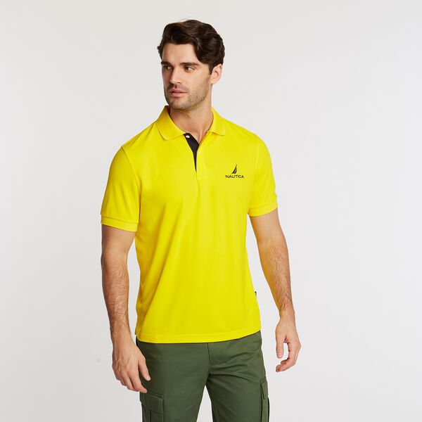 Classic Fit Solid Navtech Polo - Pulp Yellow