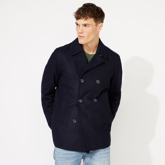 WATER REPELLENT PEACOAT,Workshirt Blue,large