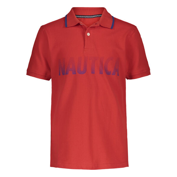 TODDLER BOYS' FADED LOGO POLO (2T-4T) - Firey Red