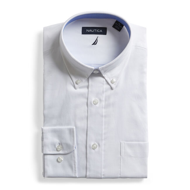 CLASSIC FIT WRINKLE-RESISTANT POPLIN SHIRT,Antique White Wash,large